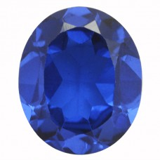 Oval Synthetic Blue Spinel