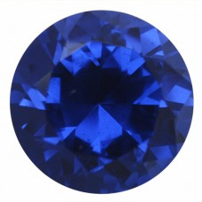 Round Synthetic Blue Spinel