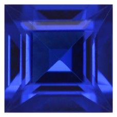 Square Synthetic Blue Spinel