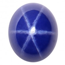 Oval Synthetic Cab Blue Star Sapphire