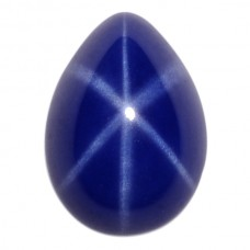 Pear Synthetic Cab Blue Star Sapphire