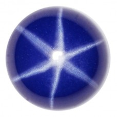 Round Synthetic Cab Blue Star Sapphire