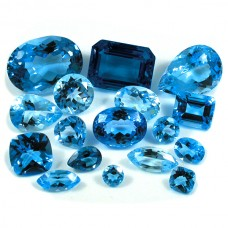 Blue Topaz Genuine Faceted