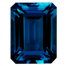 Octagon Genuine Blue Topaz