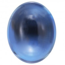 Oval Genuine Cabochon London Blue Topaz