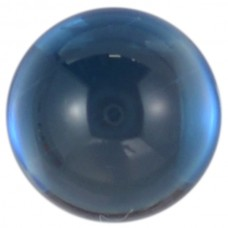 Round Genuine Cabochon London Blue Topaz