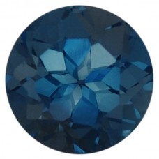 Round Genuine Blue Topaz