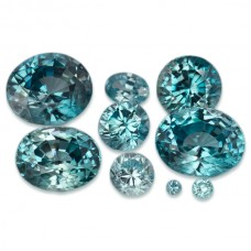 Blue Zircon Genuine Faceted