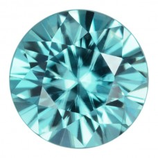 Round Genuine Blue Zircon