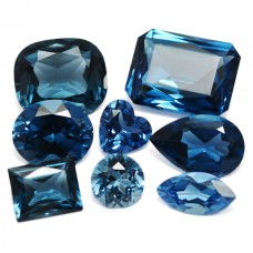 Blue Zircon Simulated Faceted