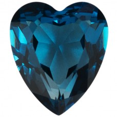 Heart Simulated Blue Zircon