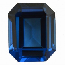Octagon Simulated Blue Zircon