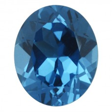 Oval Simulated Blue Zircon