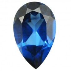 Pear Simulated Blue Zircon