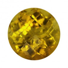 Round Genuine Yellow Tourmaline Single Stone(s)