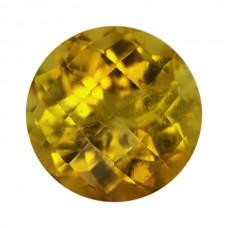 Round Genuine Yellow Tourmaline Single Stone(s)