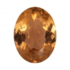 Oval Genuine Orange Tourmaline Single Stone(s)