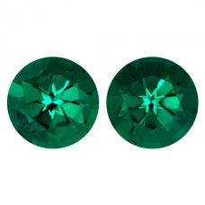 Round Lab Created Emerald Single Stone(s)