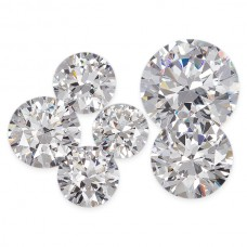 Lab Created Cubic Zirconia 14-25mm Round Lot