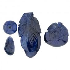 Genuine Carved Sapphire Lot #1