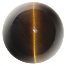 Round Genuine Cab Brown Catseye Quartz
