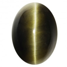 Oval Genuine Cab Green Catseye Quartz