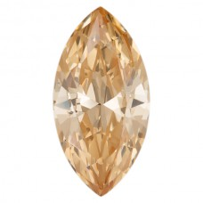 Marquise Lab Created Champagne Cubic Zirconia