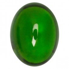 Oval Genuine Cabochon Chrome Diopside