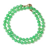 Genuine Chrysoprase Strand