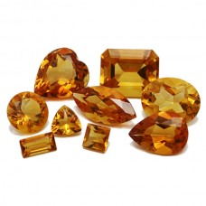 Citrine Quartz Genuine Faceted