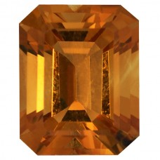 Octagon Genuine Citrine Quartz