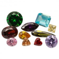 Cubic Zirconia Colored Faceted