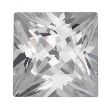 Square Princess Lab Created Cubic Zirconia
