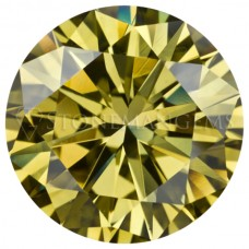 Round Genuine Canary Yellow Diamond