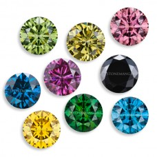 Colored Diamond Genuine Faceted