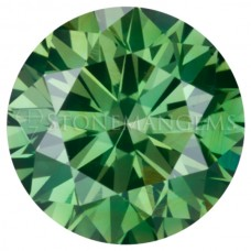 Round Genuine Green Diamond