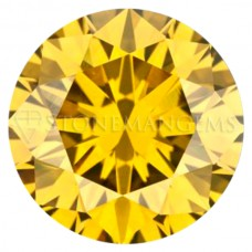 Round Genuine Golden Yellow Diamond