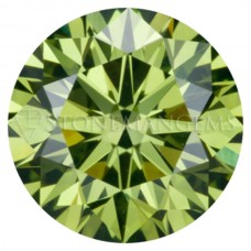 Round Genuine Icy Green Diamond