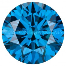 Round Genuine Ocean Blue Diamond