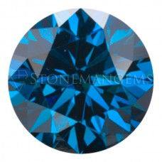 Round Genuine Royal Blue Diamond