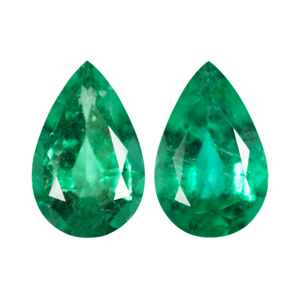 Pear Genuine Emerald Single Stone(s)