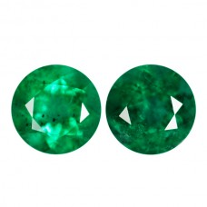 Round Genuine Emerald Single Stone(s)