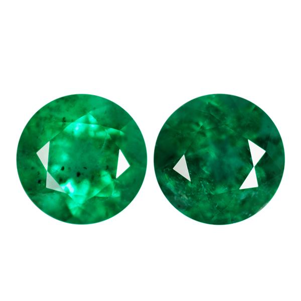 Round Genuine Emerald Single Stone(s)