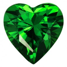 Heart Lab Created Emerald Cubic Zirconia