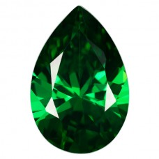 Pear Lab Created Emerald Cubic Zirconia