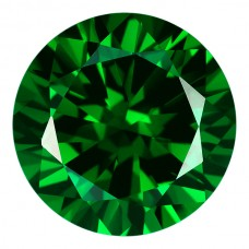 Round Lab Created Emerald Cubic Zirconia