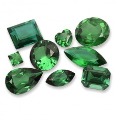 Emerald Soudee Dblt Simulated Faceted
