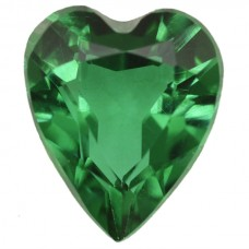Heart Simulated Emerald Doublet