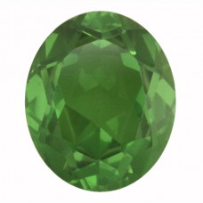 Oval Simulated Emerald Doublet