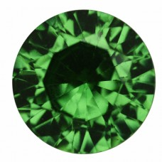 Round Simulated Emerald Doublet